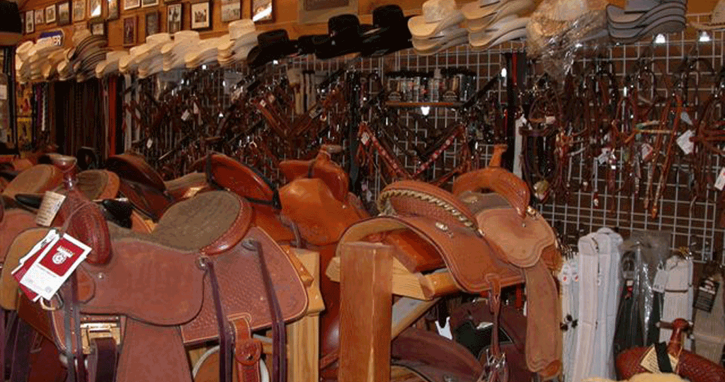 Check out our saddles and hats.